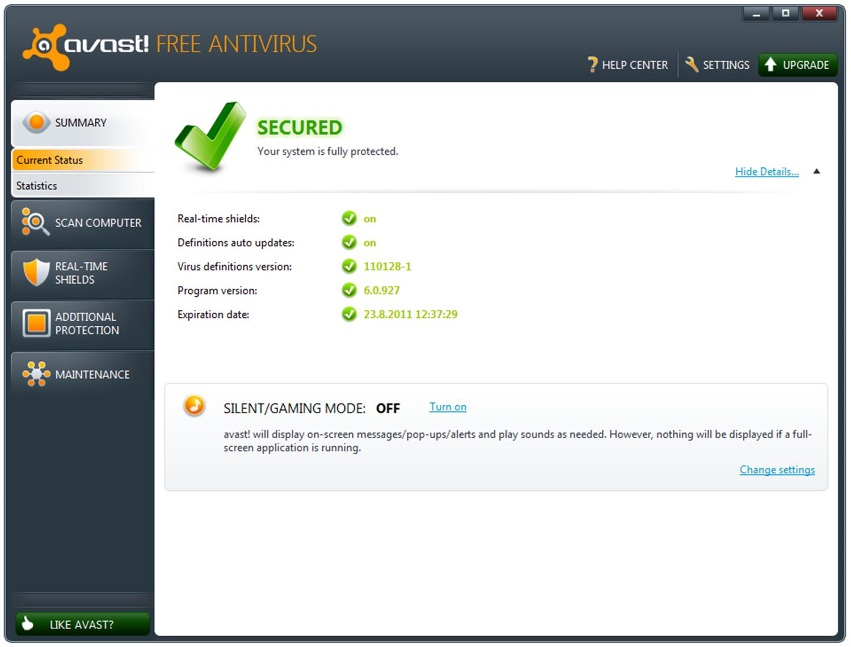 Avast Free Antivirus screenshots 1