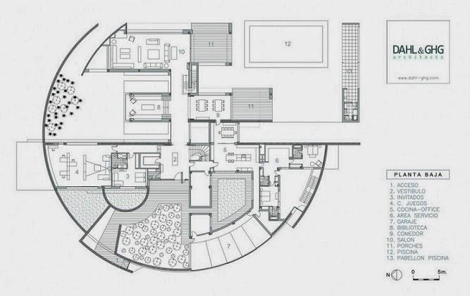 Casa en la moraleja dhal ghg architects madrid for Casa moderna autocad