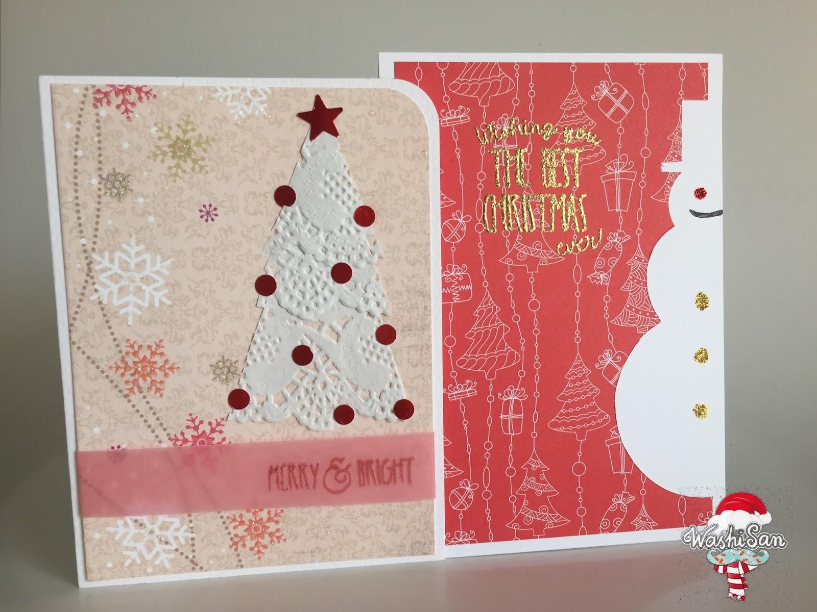 Mr washisan tarjetas navide as muy f ciles de hacer con - Cosas navidenas para hacer en casa faciles ...