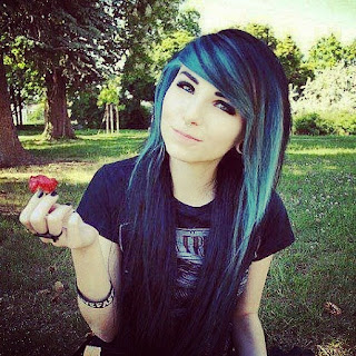 Dark and Blue hair color