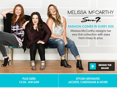 melissa mccarthy hsn shopping fashion seven7 clothing line promo image