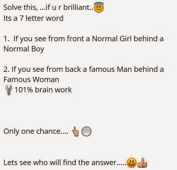 Its A 7 Letter Word 1. If You See From Front A Normal Girl