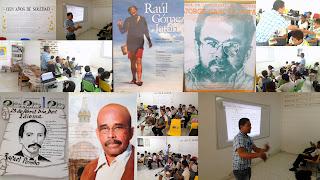Primera sesaión Taller de Lectura Ojo de Alcatraz para los niños de 4, 5 y 6  grado del INEM Cartagena.