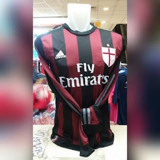gambar detail photo Jersey AC Milan home Lengan panjang musim 2015/2016 enkosa sport toko online baju bola terpercaya