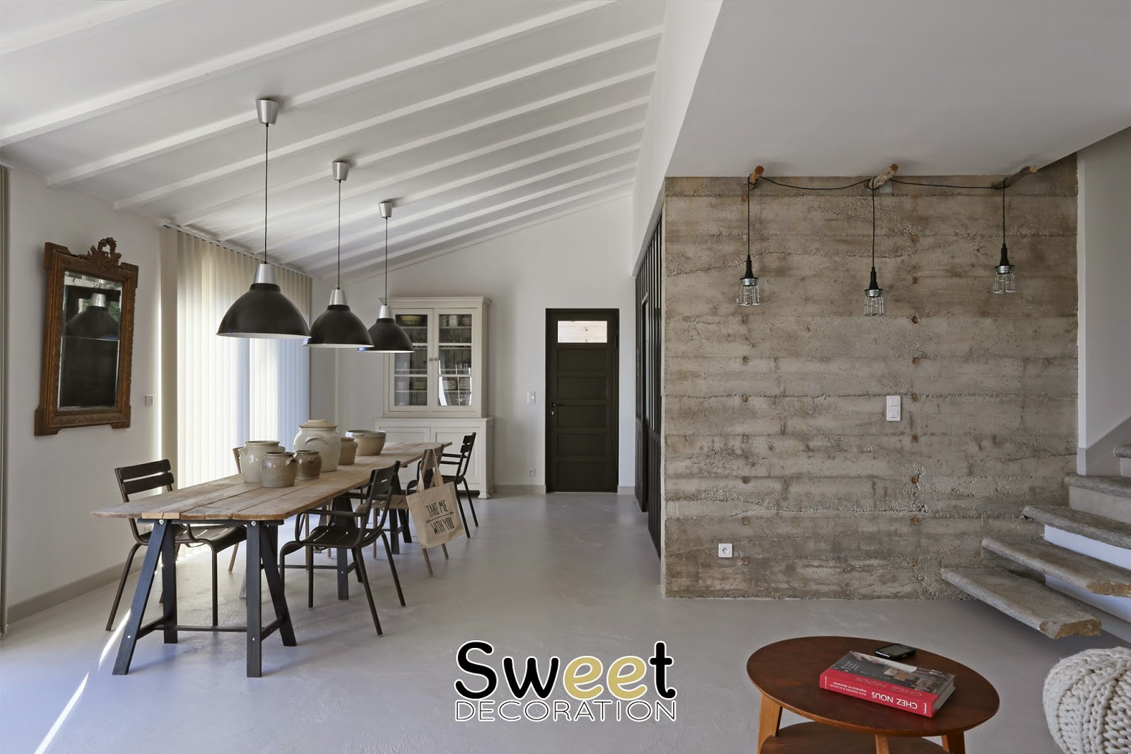 Am nagement int rieur d 39 une maison contemporaine sweet for Amenagement interieur de maison