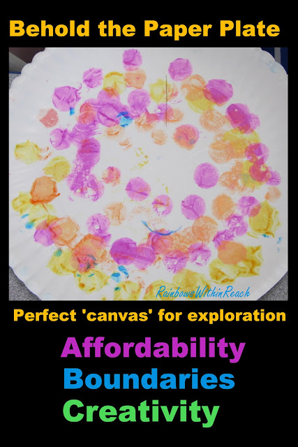 photo of: Paper plate art projects, paper plate crafts, paper plate project in preschool, circles on paper plate