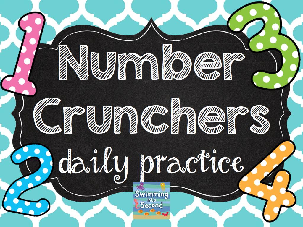 http://www.teacherspayteachers.com/Product/Number-Crunchers-daily-practice-Grade-2-1317697