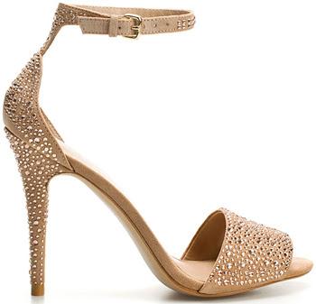 sandalias brillantes Zara