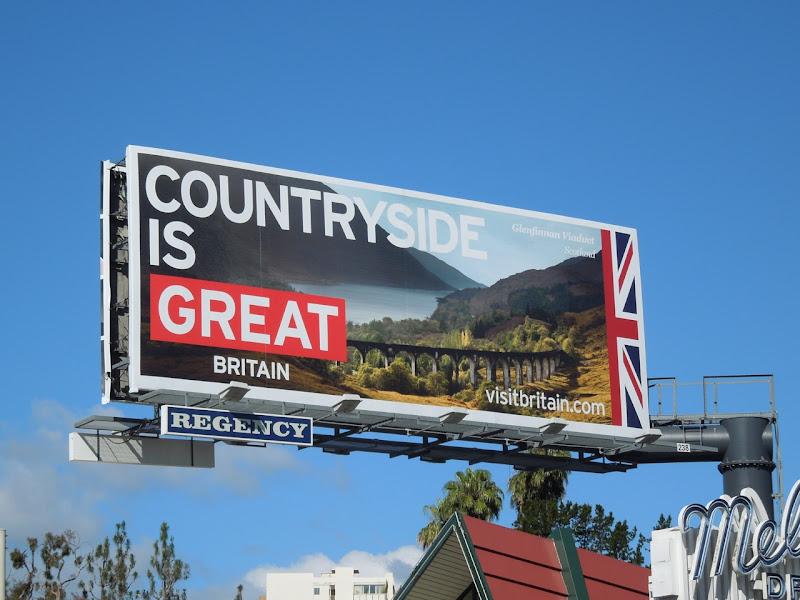 Visit Britain billboard