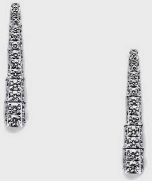 TACORI 18k White Gold 1.03ct Diamond Earrings