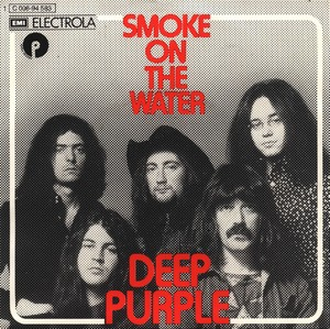 Portada del single Smoke on the water de Deep Purple