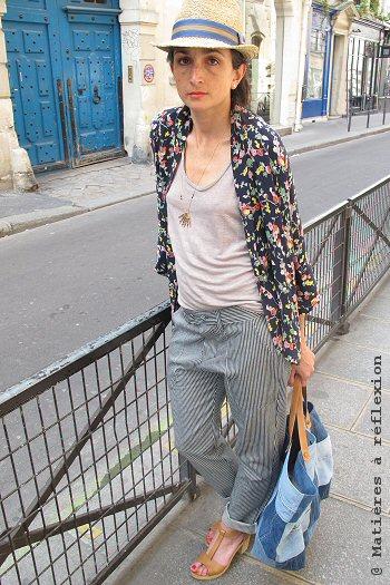 Kimono imprimé fleurs Pyrus Soldes veste loose Stormy