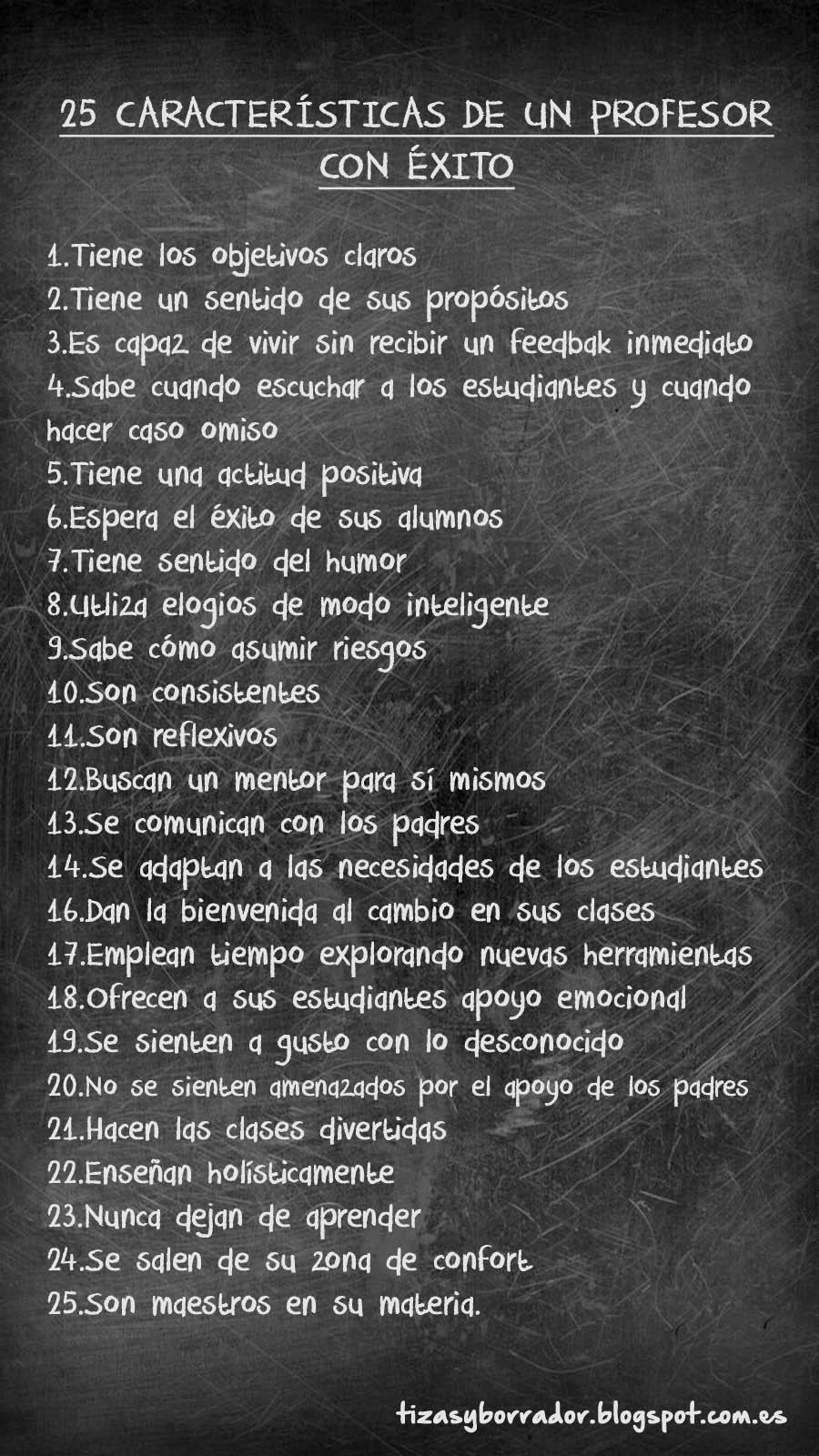 25 características de un profesor con éxito