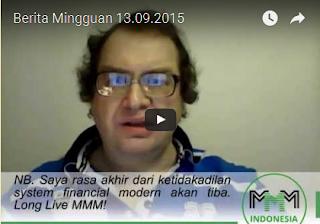 Berita Mingguan MMM Mavrodi Indonesia 13 September 2015
