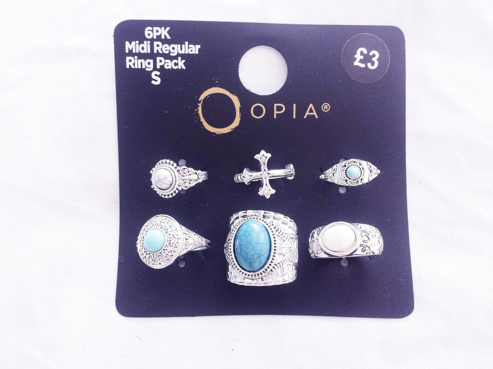 Primark Haul June 2015 Multi Pack of Blue & Silver Rings