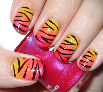 Фото тигрового дизайна ногтей
