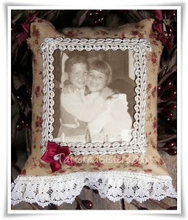 Vintage Photo Fabric Ornie