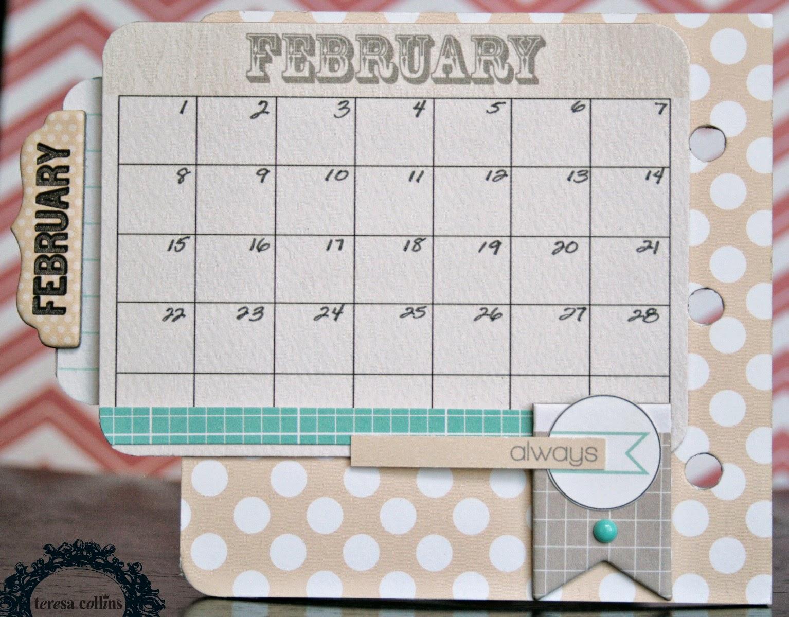 Calendar Design Tutorial : Teresa collins design team calendar mini album tutorial