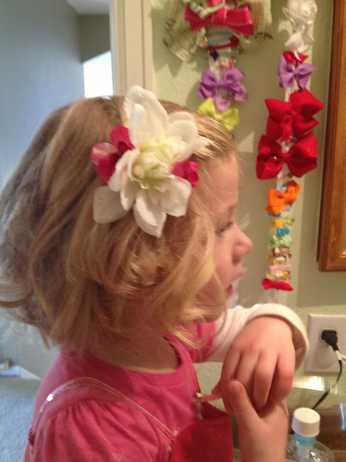 Oma Socks DIY Flower Girl Hair Clips