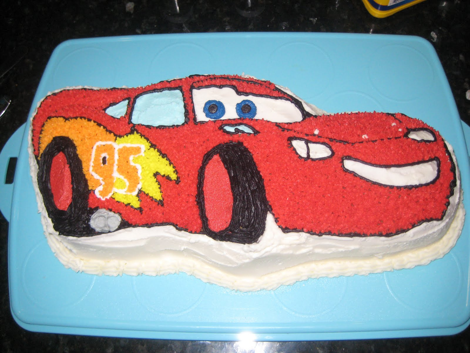 The Weekly Sweet Experiment Lightning McQueen Cake