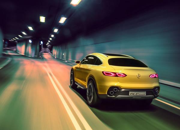 メルセデス「GLC Coupe Concept」のリア画像