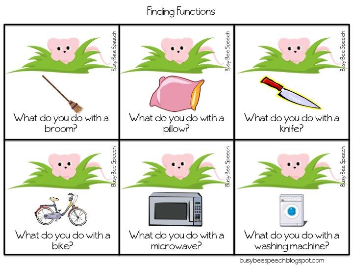 Preschool Object Function Worksheets on object function worksheets