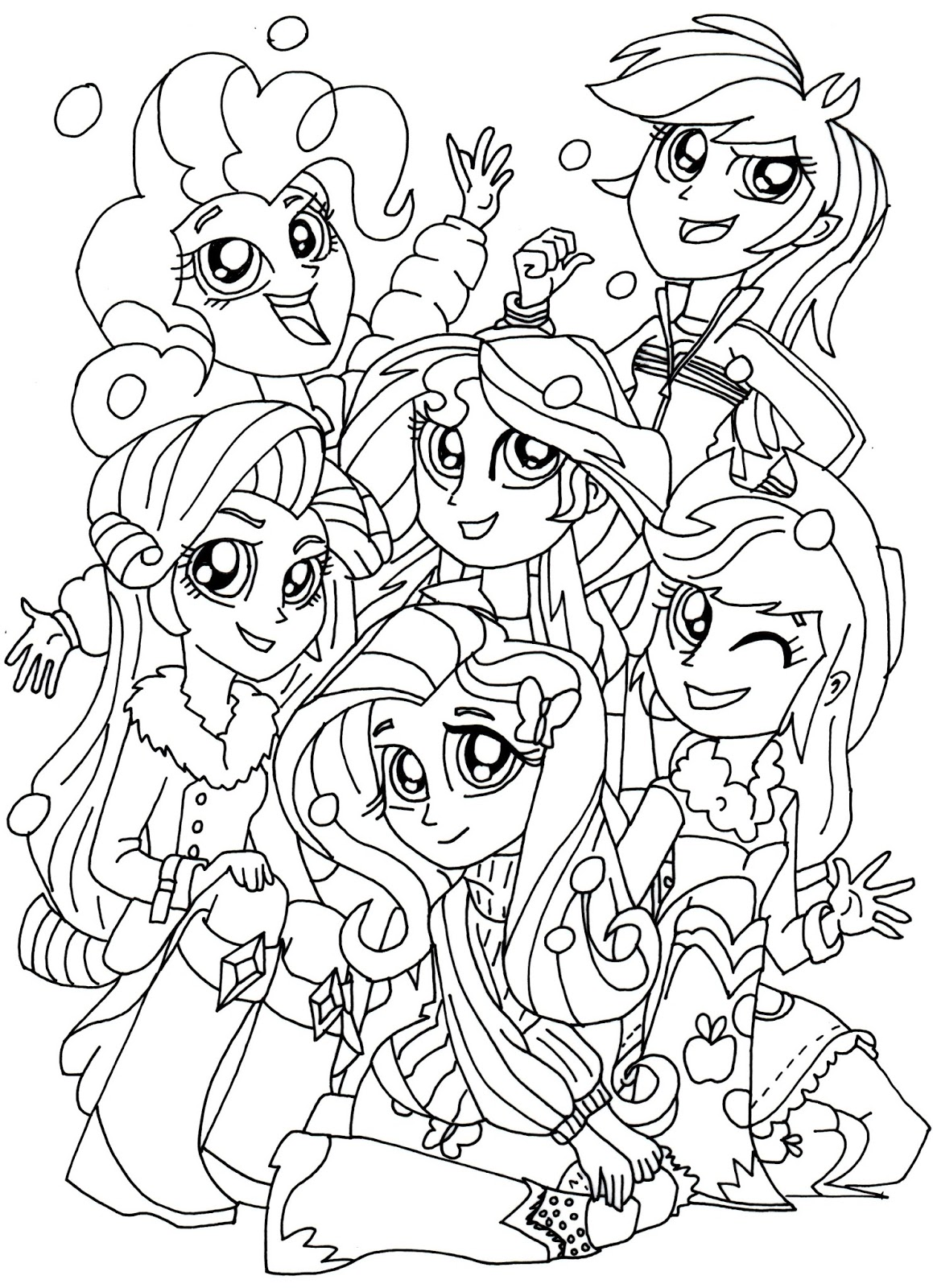 little girl coloring pages to print - free printable my little pony coloring pages january 2016