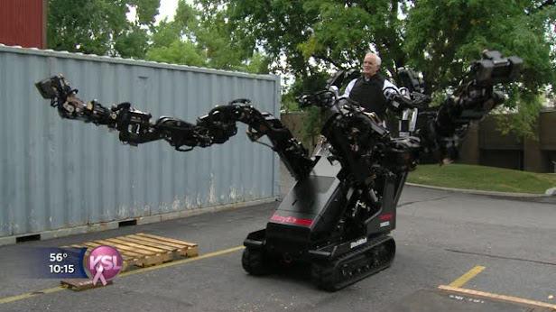 robot scv Universidad Utah Raytheon Sarcos Company