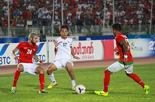 indonesia ditahan imbang malaysia di sepakbola seagame 2013