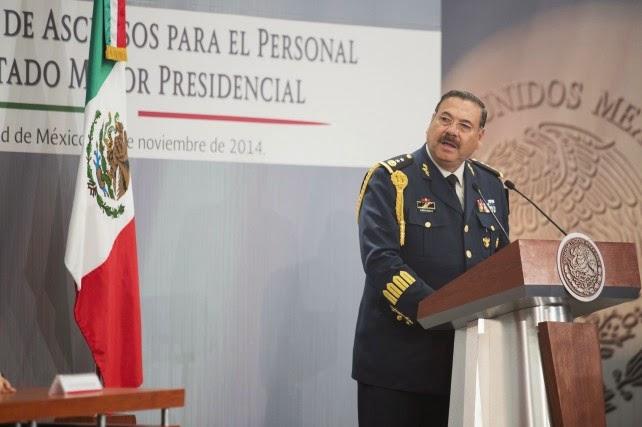 ... Francisco Miranda Moreno, durante la Ceremonia de Ascensos del EMP