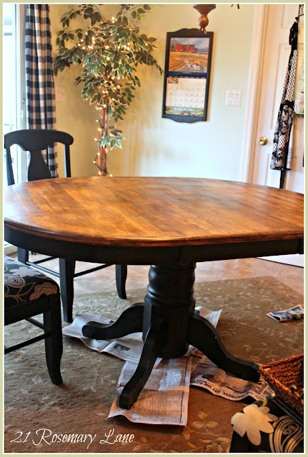 21 Rosemary Lane: Freshened Up Kitchen Table and Chairs