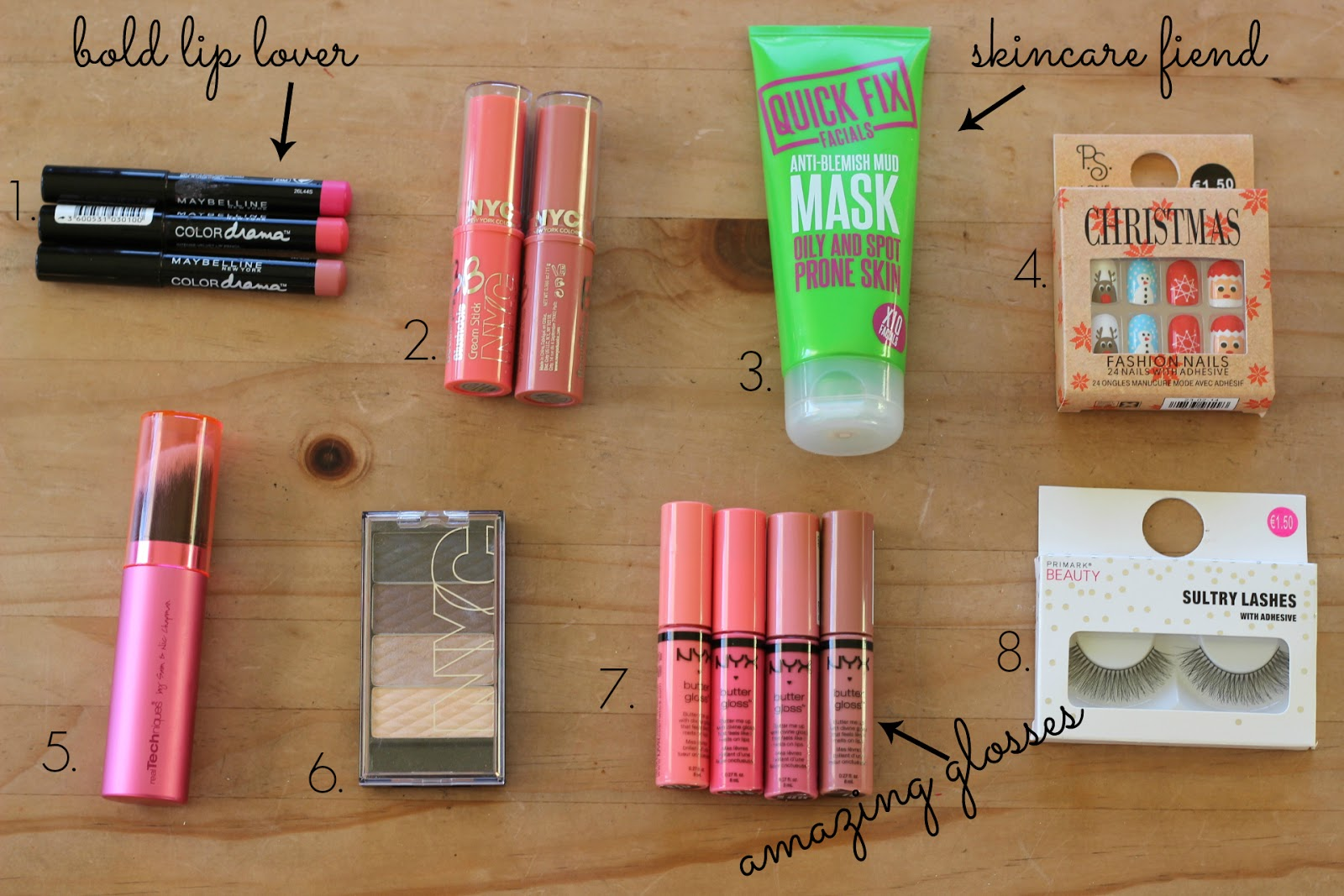 budget beauty stocking ideas