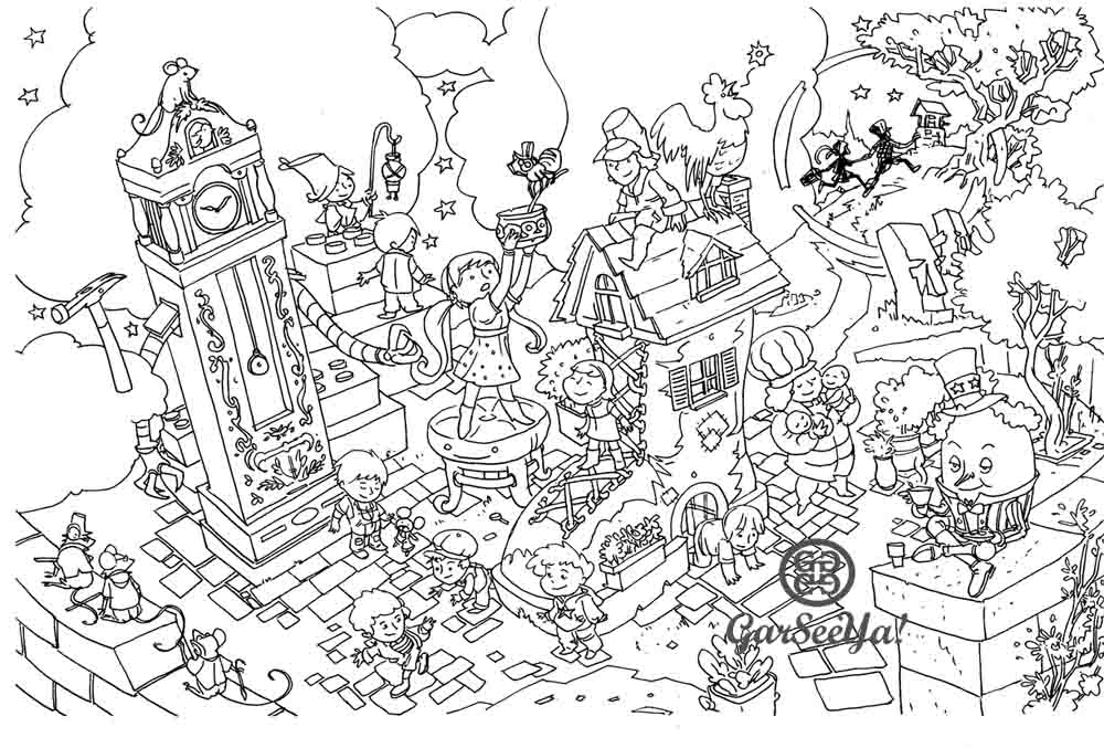 wacky coloring pages - photo #12