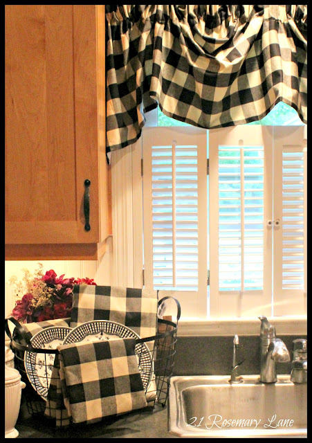 Black And Silver Shower Curtain Linen and White Buffalo Check