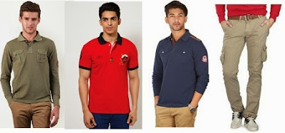 Flat 40% Off + Extra 32% Off Men's  Apparels (American Swan. Reebok , Basics, UCB, Park Avenue & more) at Jabong