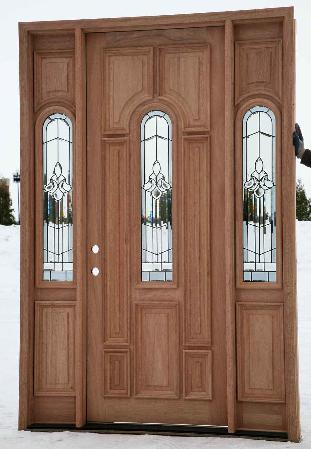 Get the precious wood entry door for your house for Cheap external doors