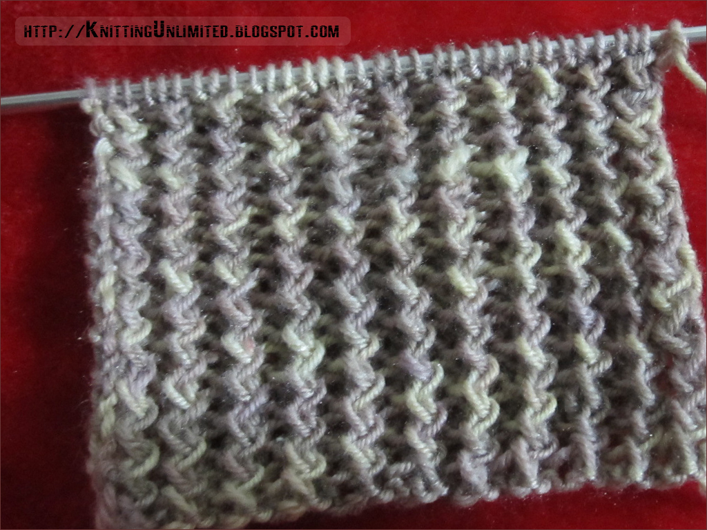 Knitting Interesting Stitches : Zig Zag Rib Knitting Stitch - Knitting Unlimited