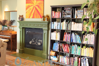 green and glaze fireplace
