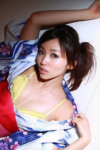 Risa Yoshiki in Kimono