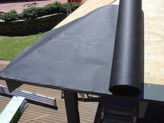 And Once The Felt Is On You Will Next Cover The Entire Roof In A Asphalt  Base Called Rolled Roofing. It Is Referred To As Roll Roofing Because Of  The Way It ...