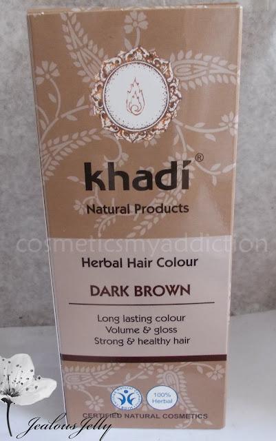 Farbowanie włosów henną khadi ciemny brąz