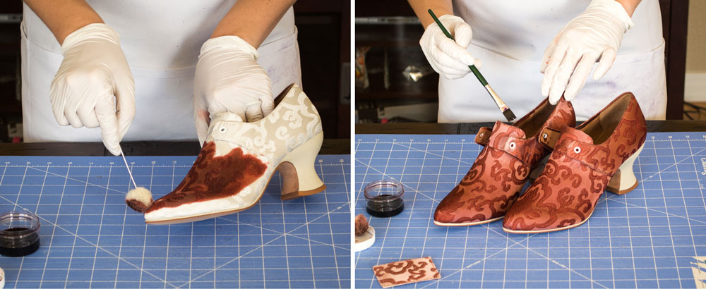 how to make your own pair of couture pompadour 18th century shoes. Black Bedroom Furniture Sets. Home Design Ideas
