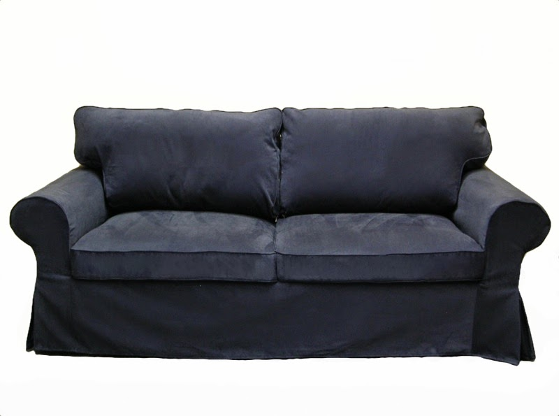 Ektorp sleeper sofa slipcover in Denim Twill by Knesting.com