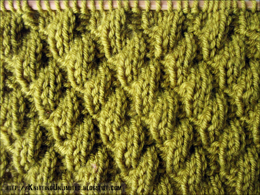 Knitting Unlimited: Knit-Purl Combinations: Pattern 6 - Diagonal Stitch 2