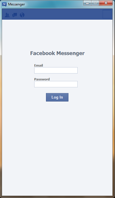 facebook with chat login