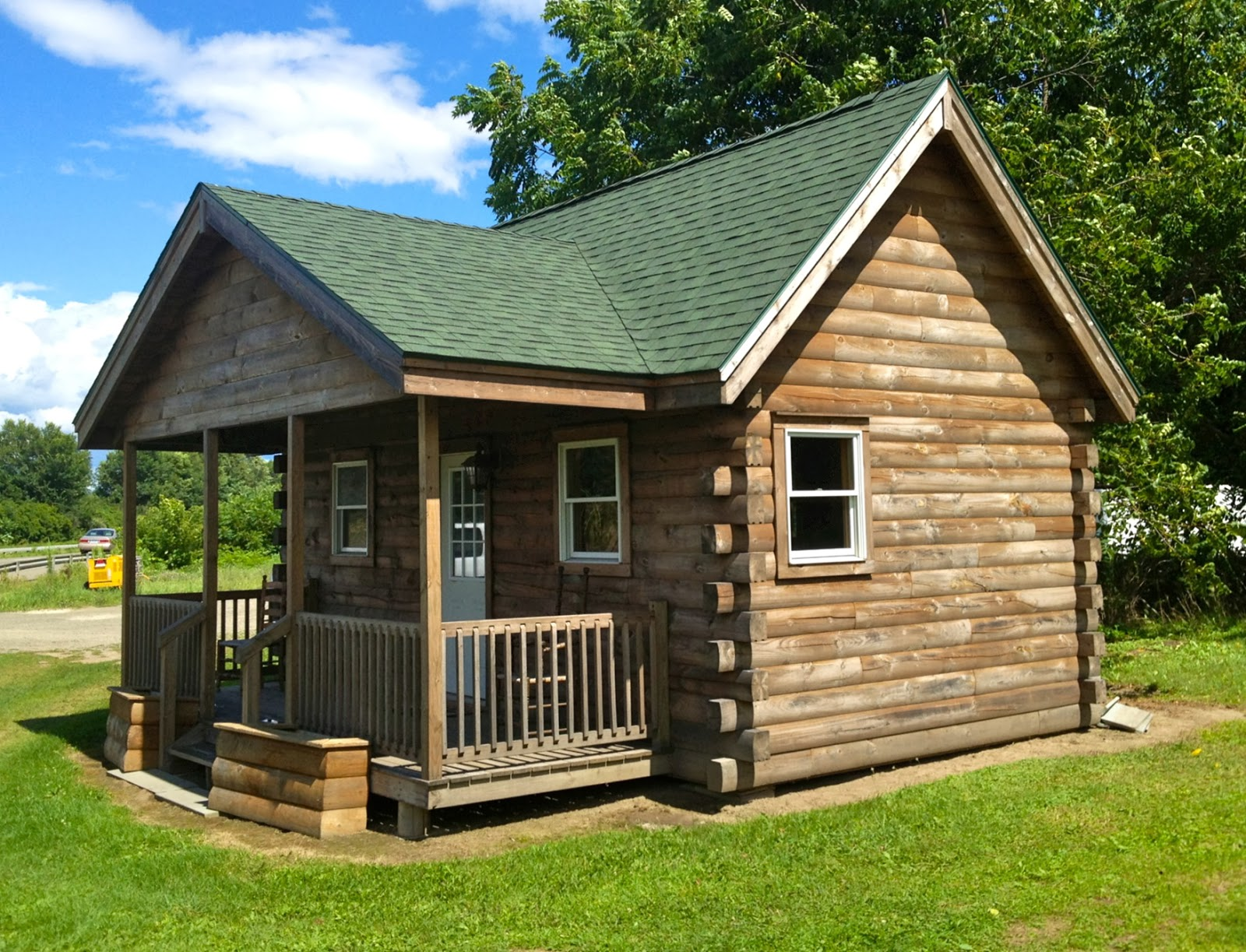 Small scale homes tiny home near binghamton ny for Small log house plans