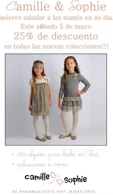 ROPA DE NIÑAS CAMILLE & SOPHIE SALUDA A LAS MAMIS