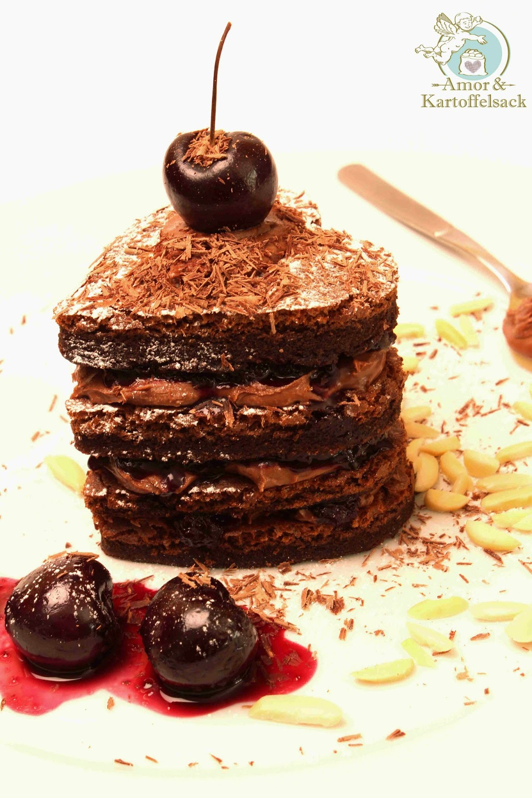 Kuchen mit Nussnougatcreme