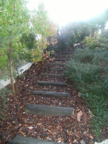 escaleras de traviesa de madera