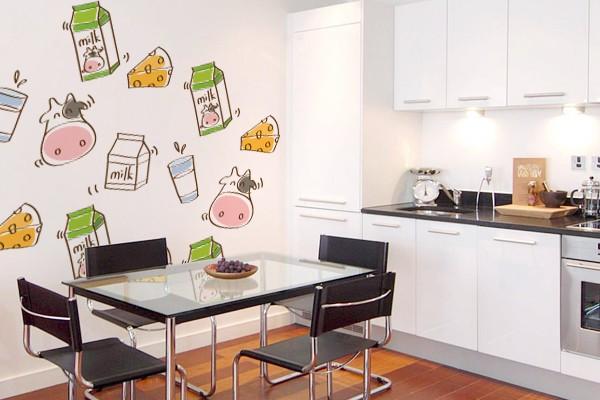Artesanato Com Tecido E Cola ~ Adesivos de parede o toque charmoso que faltava na sua cozinha Amando Cozinhar Receitas